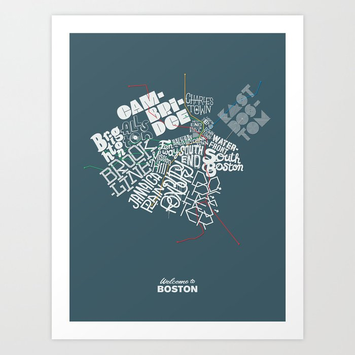 Welcome to Boston Art Print