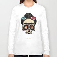 frida Long Sleeve T-shirts featuring Frida by mangulica