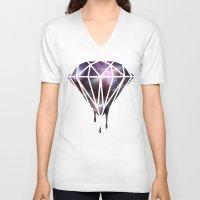 diamond V-neck T-shirts featuring Diamond by jeff'walker