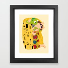 Klimt muppets Framed Art Print