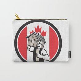 Canadian House Removal Canada Flag Icon Carry-All Pouch