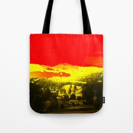 Digitally Altered Photo of Lake Windermere Tote Bag