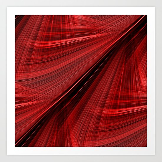 Roaring Red Electric Highway Art Print