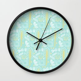 Blue Pasta and Chard Wall Clock