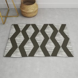 Acoustic Wave Charcoal Rug