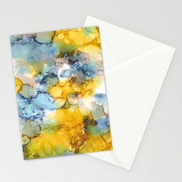 Alcohol Ink 'Fools Gold' Stationery Cards