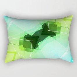 Revive - Geometric Abstract Art Rectangular Pillow