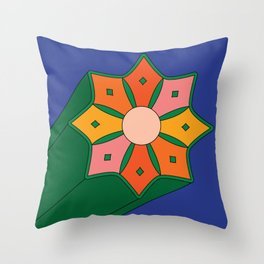 Summer Starburst Throw Pillow