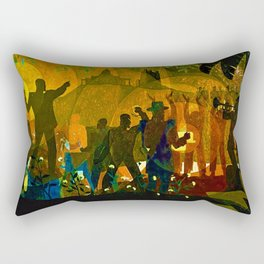 From Slavery thru Reconstruction photograph of the 135th St. WPA Public Mural NY Public Library  Rectangular Pillow