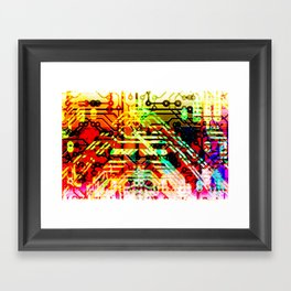 Color circuit Framed Art Print