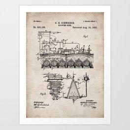 Brewing Beer Patent - Beer Art - Antique Art Print