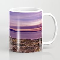 west coast Mugs featuring West Coast Goodnight by Paul & Fe Photography
