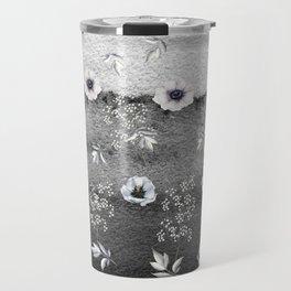Winter Flower Garden Travel Mug
