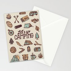 Lets Go Camping Stationery Cards