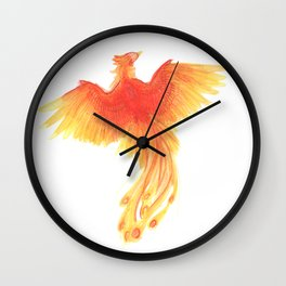 Rising from the Ashes Wall Clock