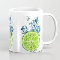 lemon Mugs featuring Lemon by jausrine