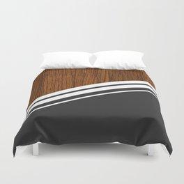 Wood StYle black Duvet Cover