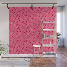 Dot Ladybugs - Rouge & Taffy Pink Color Wall Mural