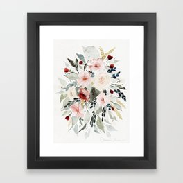 Loose Watercolor Bouquet Framed Art Print