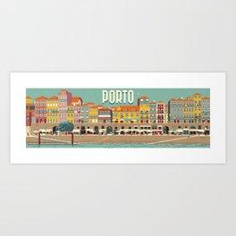 Porto - panoramic Art Print