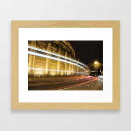 Bank of Ireland College Green with light streak Framed Art Print