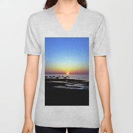 Wonderful Sunset Seascape Unisex V-Neck