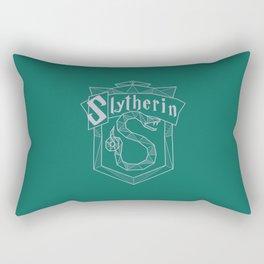 Slytherin Inspired Crest Rectangular Pillow