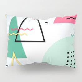 Abstract Christmas Pillow Sham