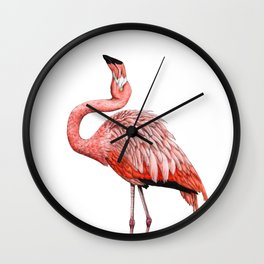 Fabulous Flamingo Wall Clock