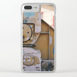 industrial pastels 1 Clear iPhone Case