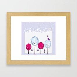 Pastel Dream Trees Framed Art Print