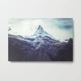 Mountain Peak / Misty Mountaintops / Forest Cliffs Metal Print