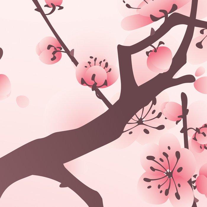 Oriental cherry blossom in spring 005 Leggings