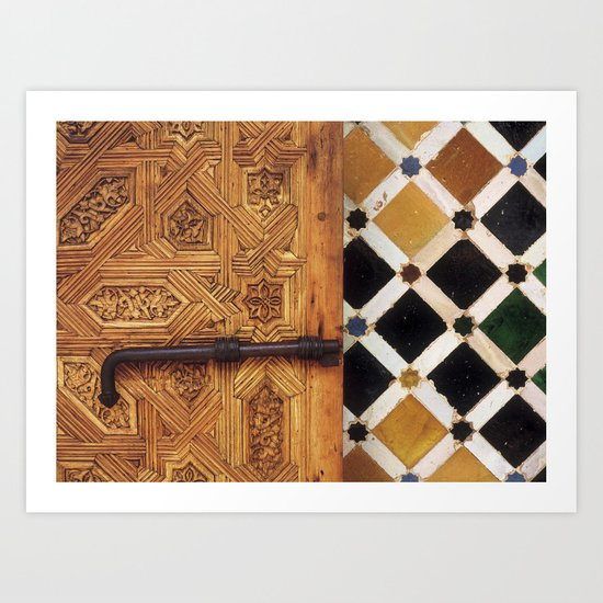 The door in The Alhambra Palace Art Print