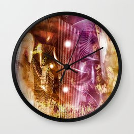 """Line & Shape: Inner City 2"" Wall Clock"