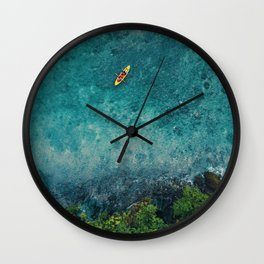 Kayaking in The Philippines  Wall Clock