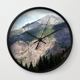 View from the Road to Red Mountain Pass Wall Clock