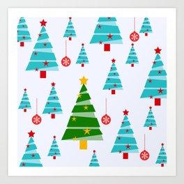 Christmas trees Art Print