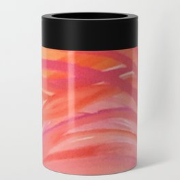 Abstract Pink Orange Purple Stripes Painting Girl Summer Colorful Can Cooler