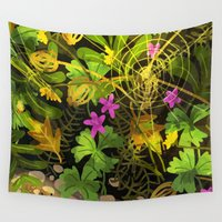 mouse Wall Tapestries featuring mouse by Lara Paulussen