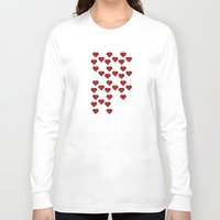 8 bit Long Sleeve T-shirts featuring 8 BIT HEART by Bianca Lopomo