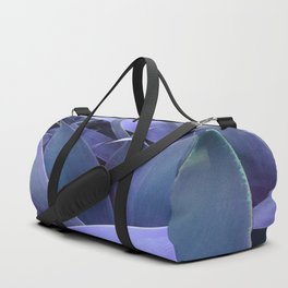 Abstract Leaves Periwinkle Teal Duffle Bag