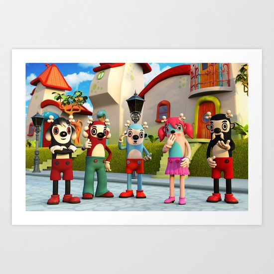 Suzzy and the Gang Art Print