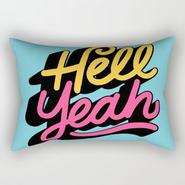 hell yeah 002 x typography Rectangular Pillow