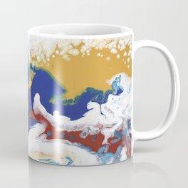 Celebration Navy Burgundy Gold Fluid Marble Painting Coffee Mug