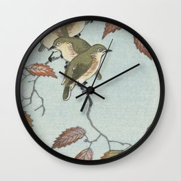 Birds on a branch (1900 - 1936) by Ohara Koson (1877-1945) Wall Clock