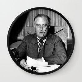 President Franklin Roosevelt Wall Clock