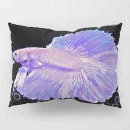 Iridescent Purple Fighting Fish Pillow Sham