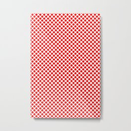 Circle Spot Red Polka Dot Pattern Metal Print