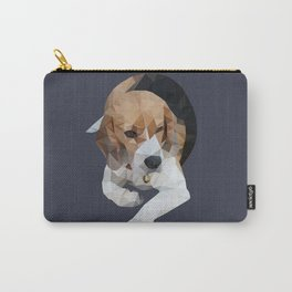 geometric beagle dog #1 Carry-All Pouch